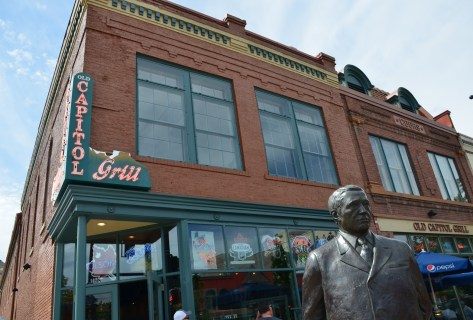 Adolph Coors Statue and Old Capitol Grill