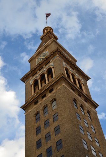 Daniels & Fisher Tower on 16th Street Mall in Denver, Colorado