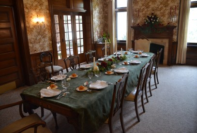 Dining room in the Wyoming Governor's Mansion in Cheyenne