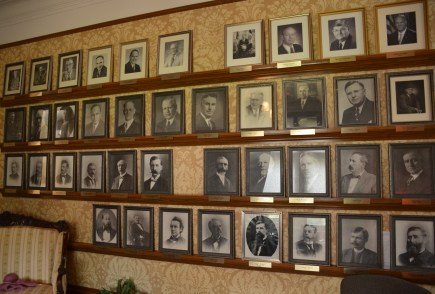 Portraits of Wyoming's governors in the Wyoming Governor's Mansion in Cheyenne