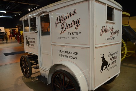 Dairy wagon at the Cheyenne Frontier Days Old West Museum in Wyoming