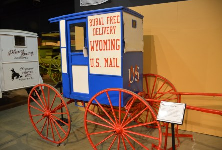 US Mail wagon at the Cheyenne Frontier Days Old West Museum in Wyoming