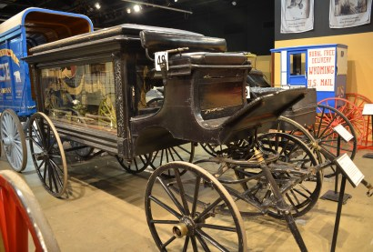Funeral carriage at the Cheyenne Frontier Days Old West Museum in Wyoming