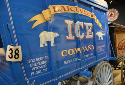 Ice wagon at the Cheyenne Frontier Days Old West Museum in Wyoming