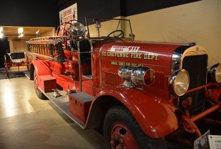 Fire engine at the Cheyenne Frontier Days Old West Museum in Wyoming