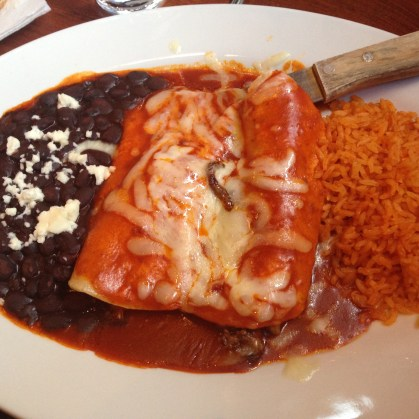 Enchiladas at Las Margs in Denver, Colorado