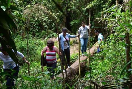 Hiking at Yagua Indigenous Community Amazonas Colombia