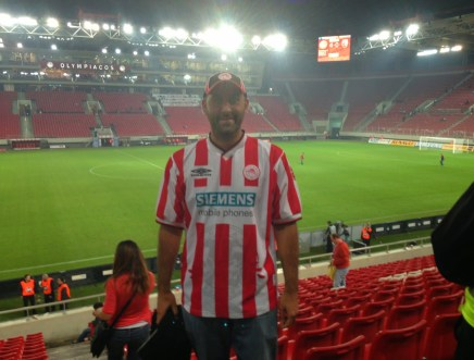 At an Olympiakos game in Piraeus, Greece