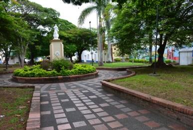Parque de los Franciscanos across from Iglesia Nuestra Señora del Carmen in Tuluá, Valle del Cauca, Colombia