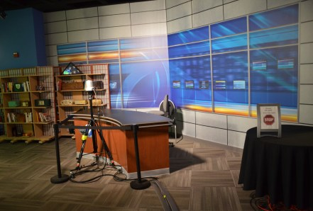 Newscast Set at Museum of Broadcast Communications in Chicago, Illinois