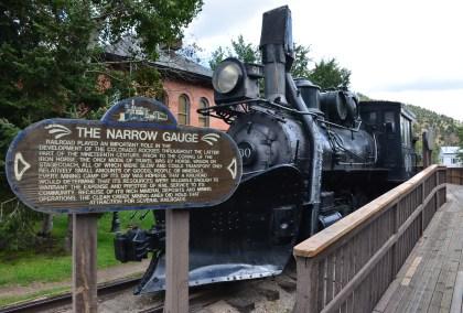 Engine No. 60 of the Narrow Gauge Railway in Idaho Springs, Colorado