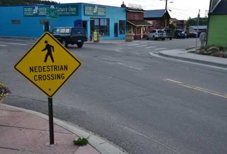 Nedestrian Crossing in Nederland, Colorado