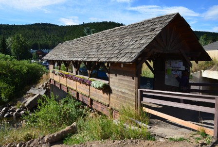 Covered bridge in Nederland, Colorado