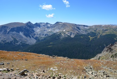 View from Tundra Communities Trailhead on Trail Ridge Road in Rocky Mountain National Park, Colorado