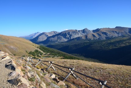 Gore Range Overlook on Trail Ridge Road in Rocky Mountain National Park, Colorado