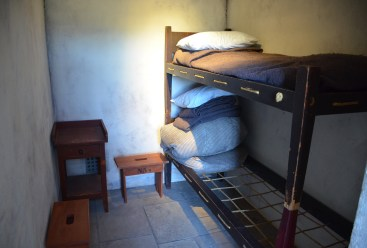 Prison cell at Wyoming Territorial Prison State Historic Site in Laramie