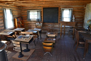 Chimney Rock Ranch schoolhouse at the pioneer village at Wyoming Territorial Prison State Historic Site in Laramie