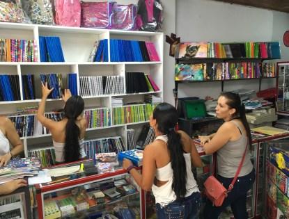 Shopping for school supplies in Belén de Umbría, Risaralda, Colombia