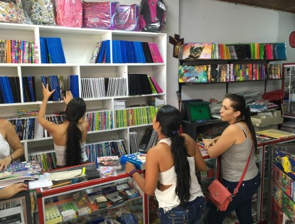 Shopping for school supplies in Belén de Umbría, Risaralda, Colombia