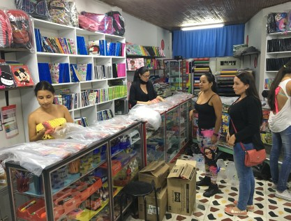 Putting together the packages in Belén de Umbría, Risaralda, Colombia