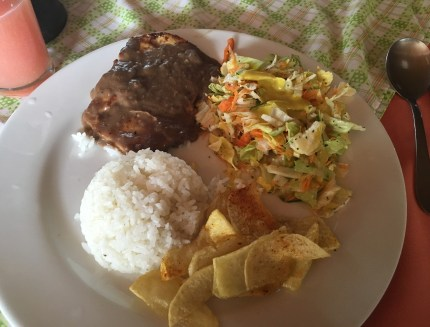 Lunch at Brisas del Calima in Darién, Valle del Cauca, Colombia