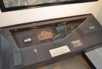 Pablo Escobar's personal items at Museo Histórico de la Policía Nacional in La Candelaria, Bogotá, Colombia