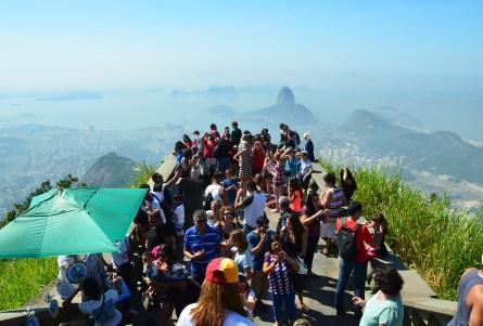 The crowd at Corcovado in Rio de Janeiro, Brazil