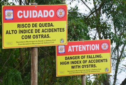 Oyster warning! Forte Defensor Perpétuo in Paraty, Brazil