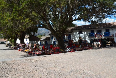 Craft market in Andahuaylillas, Peru