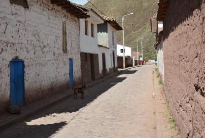 A street in Andahuaylillas, Peru