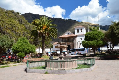 Plaza in Andahuaylillas, Peru