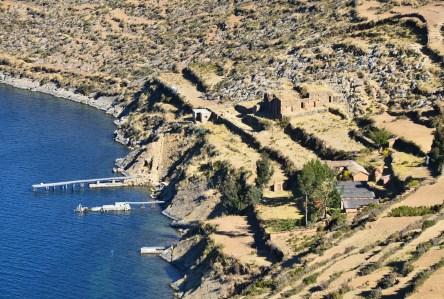 Pillkukayna on Isla del Sol, Lake Titicaca, Bolivia