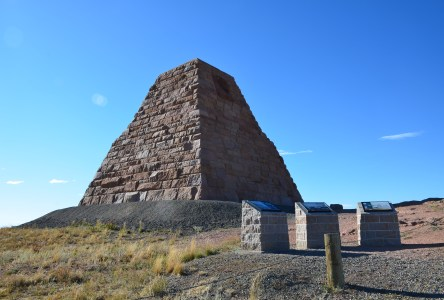 Ames Monument near the former site of Sherman, Wyoming