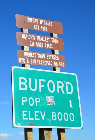 Buford sign in Wyoming