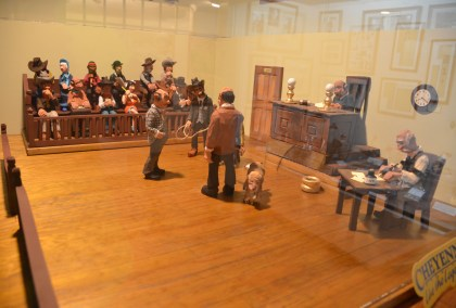 Courtroom scene at the Nelson Museum of the West in Cheyenne, Wyoming