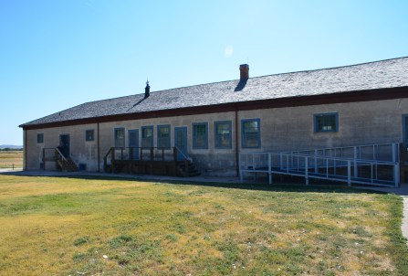 Commissary storage (Visitor Center) at Fort Laramie National Historic Site in Wyoming