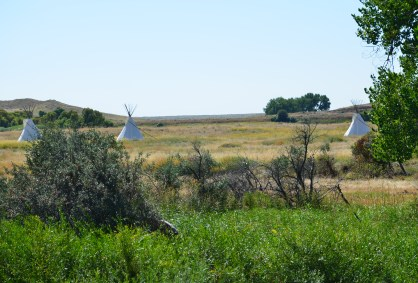 Tepees at Fort Laramie National Historic Site in Wyoming