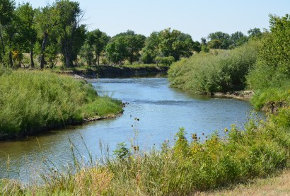 Laramie River at Fort Laramie National Historic Site in Wyoming
