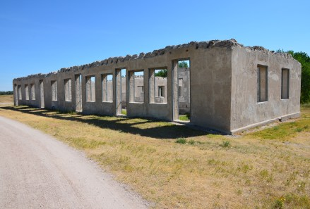 Administration building at Fort Laramie National Historic Site in Wyoming