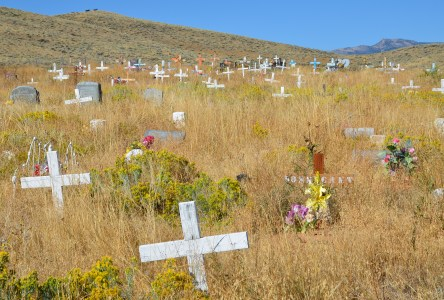Sacajawea Cemetery in Fort Washakie, Wyoming