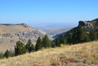 Shoshone National Forest on The Loop Road in Wyoming