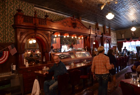 Irma Hotel saloon in Cody, Wyoming