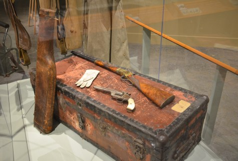 Annie Oakley's gun at the Buffalo Bill Museum at the Buffalo Bill Center of the West in Cody, Wyoming