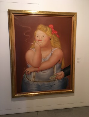 A prostitute by Botero at Museo de Antioquia, Medellín, Colombia