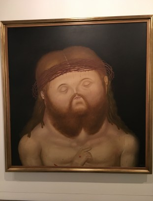 Botero's Christ at Museo de Antioquia, Medellín, Colombia