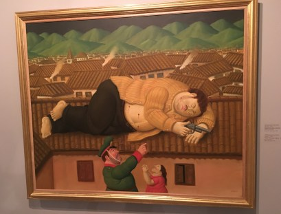 Botero's depiction of the death of Pablo Escobar at Museo de Antioquia, Medellín, Colombia