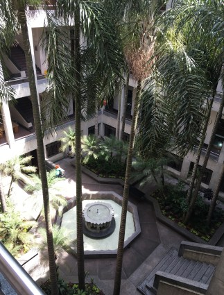 Courtyard at Museo de Antioquia, Medellín, Colombia