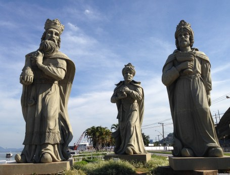 Statue of three kings, Angra dos Reis, Brazil