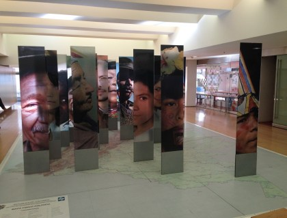 Temporary exhibit at Museo del Oro in Bogotá, Colombia