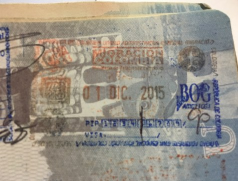 PIP5 entry stamp Colombia